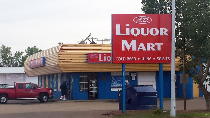 A.D. Liquor Mart Pylon Sign Face