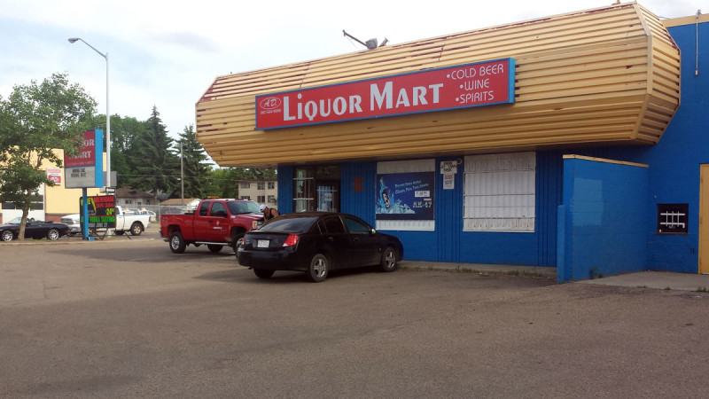 A.D. Liquor Mart Storefront Sign Face