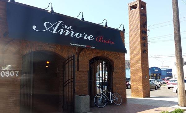 Cafe Amore Awning