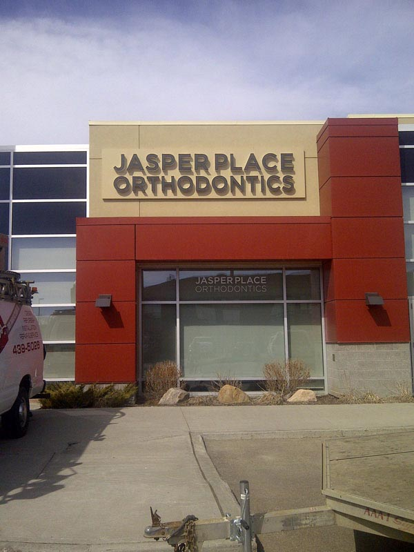 Jasper Place Orthodontics Channel Letters