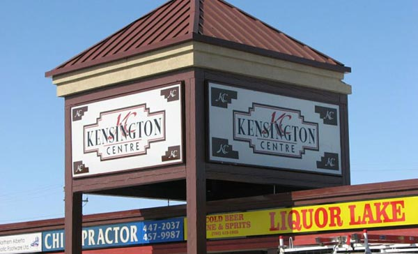 Kensington Centre Backlit Sign Cabinets