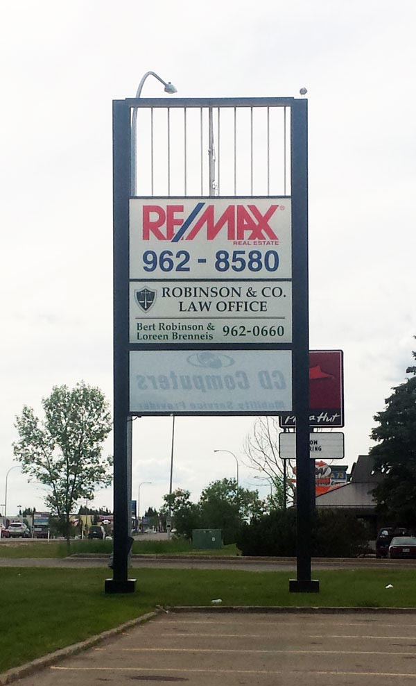 Remax Pylon Sign Face