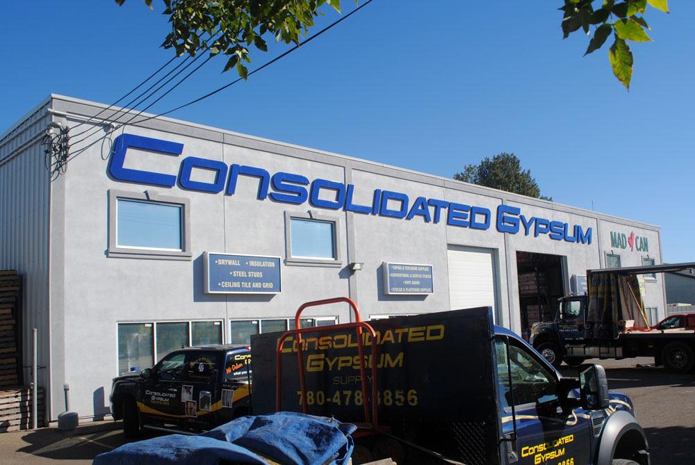 Consolidate Gypsum non-illuminated individual letters
