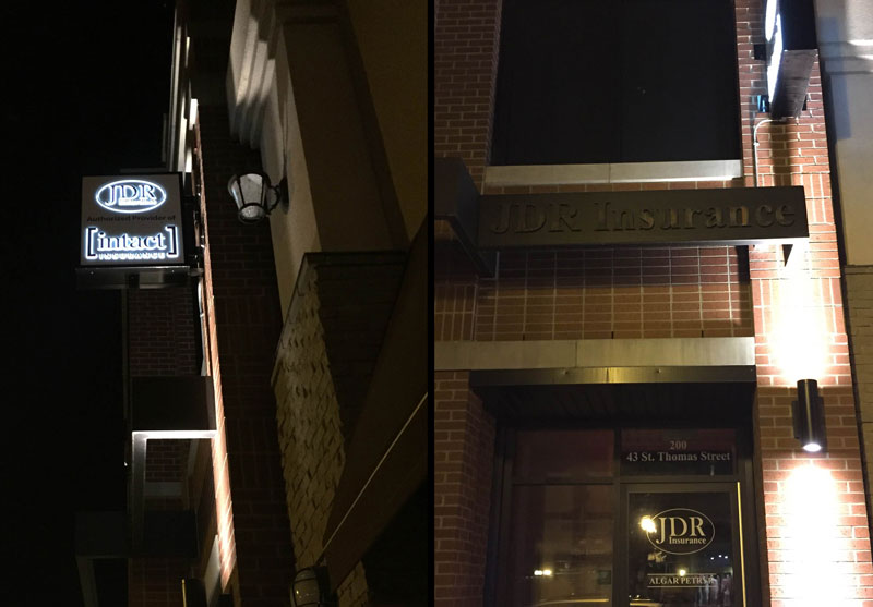 JDR Metal and Illuminated Sign, Edmonton