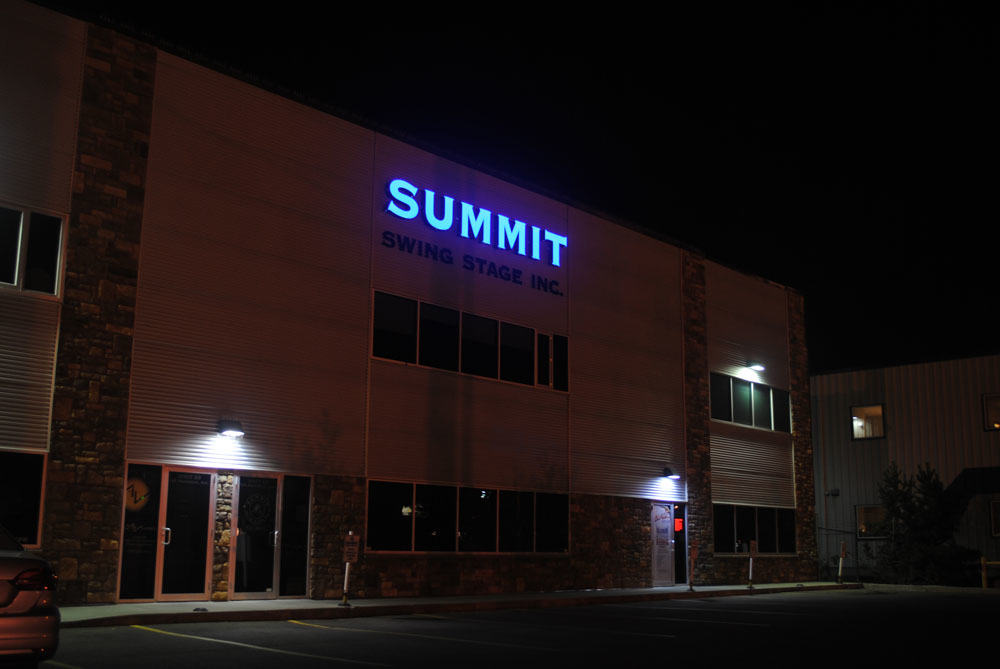 Night Illuminated sign