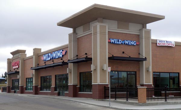 Edmonton channel letter sign for Wild Wing