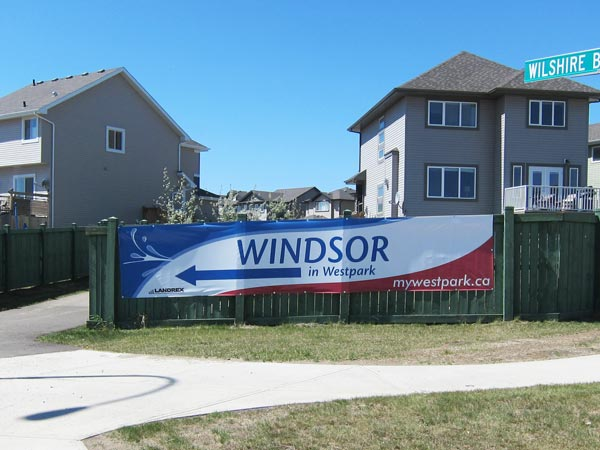 Showhome Banner for Fort Saskatchewan development