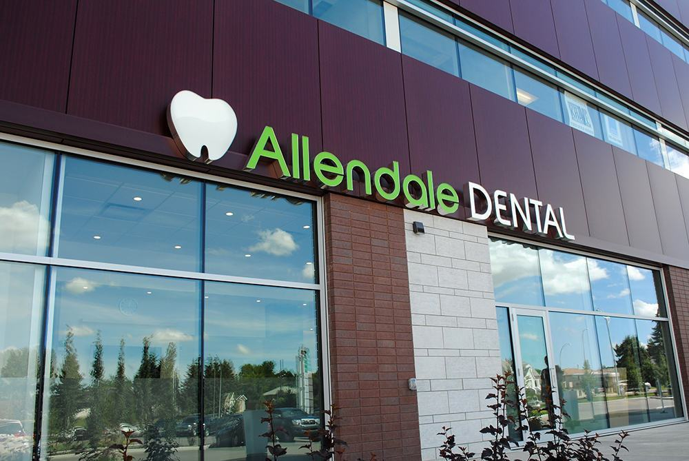 Allendale Dental - Raceway mounted channel letters