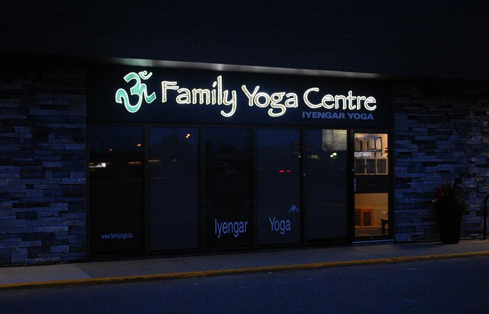 Family Yoga Night Illuminated Letters