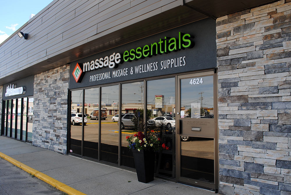 Massage Essentials Channel and Flat-cut letters