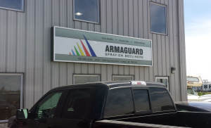 Armaguard Backlit Sign Cabinet