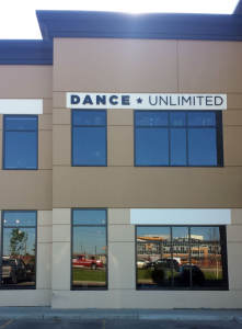 Dance Unlimited Individual Letters