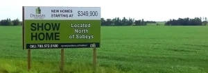 Large Billboard in Field