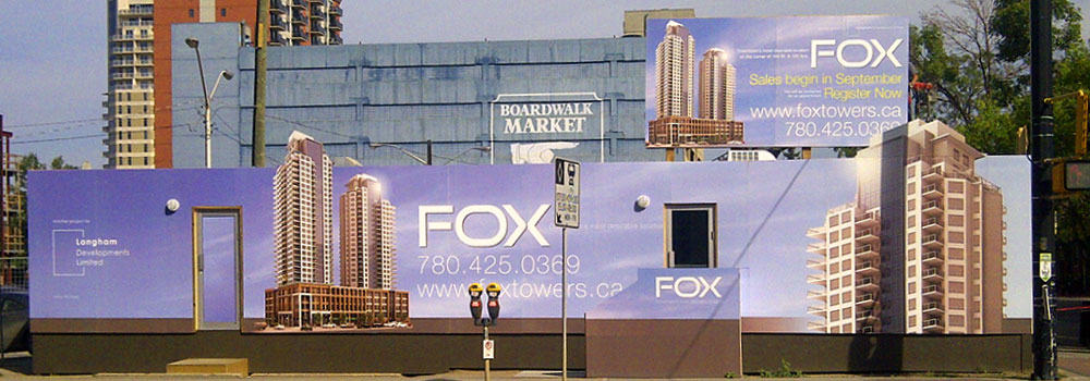 Showhome Signs at Fox Tower Downtown Edmonton