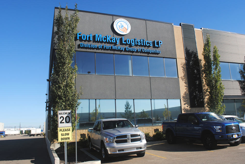 Channel letters at Fort McKay Logistics