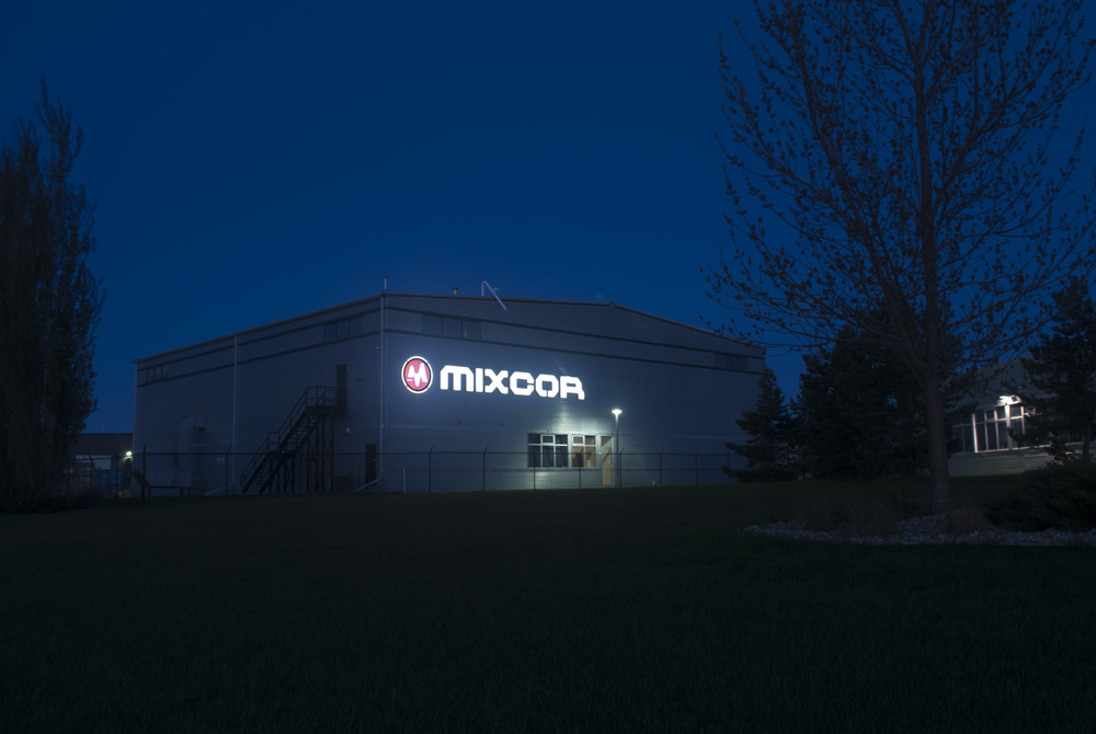 Mixcor Night Photo of Channel Letter Sign in Leduc