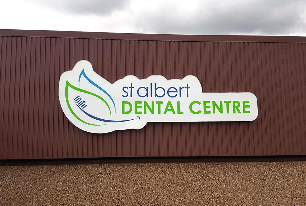 St. Albert Dental - Shaped Backlit Channel Cabinet