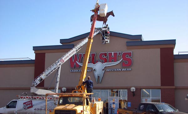 Edmonton sign installation