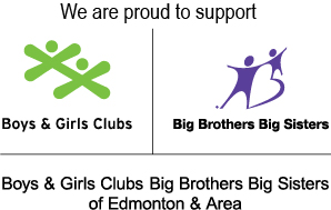 We support Big Brothers and Big Sisters of Edmonton
