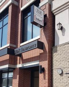 Projecting Sign at JDR Insurance St. Albert