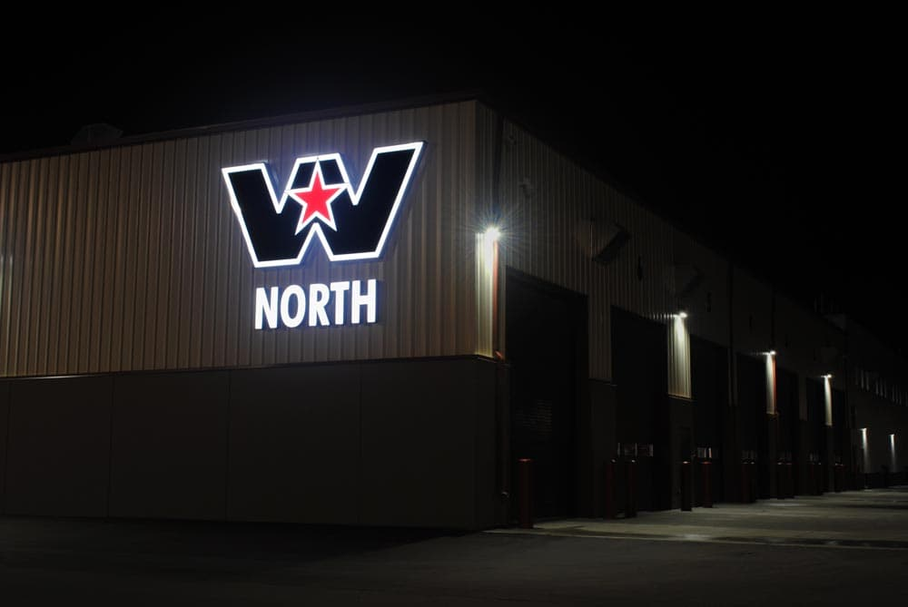 Western Star Illuminated Channel Sign