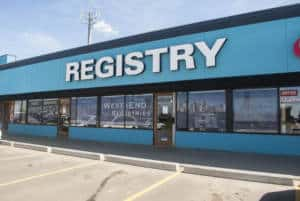 West-End Registries - Channel letter storefront sign