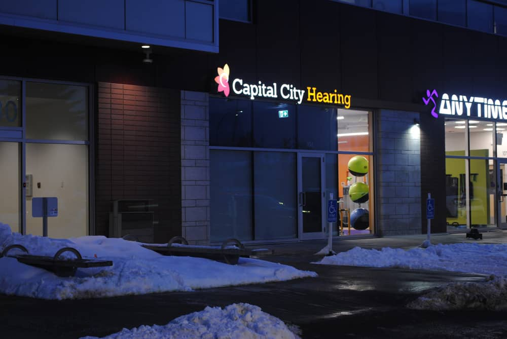 Capital City Hearing Channel Letters, Night View