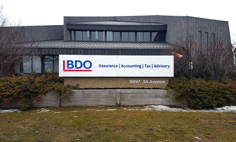 BDO - Non-illuminated freestanding signage