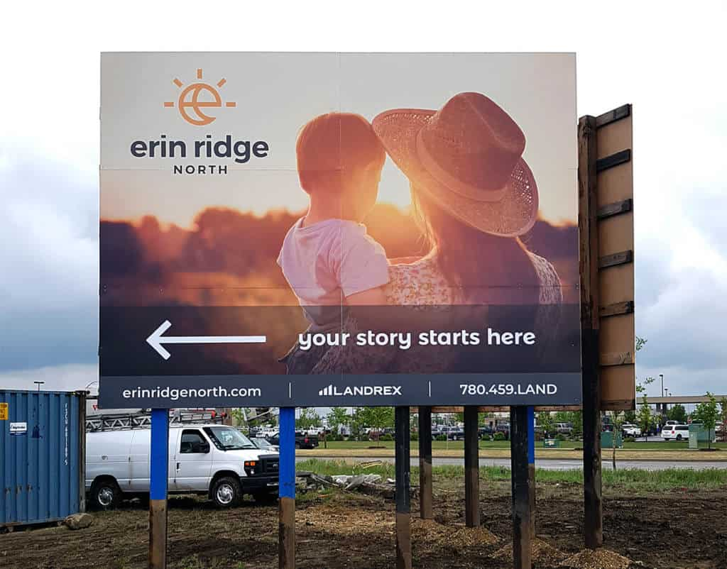 Large builder billboard
