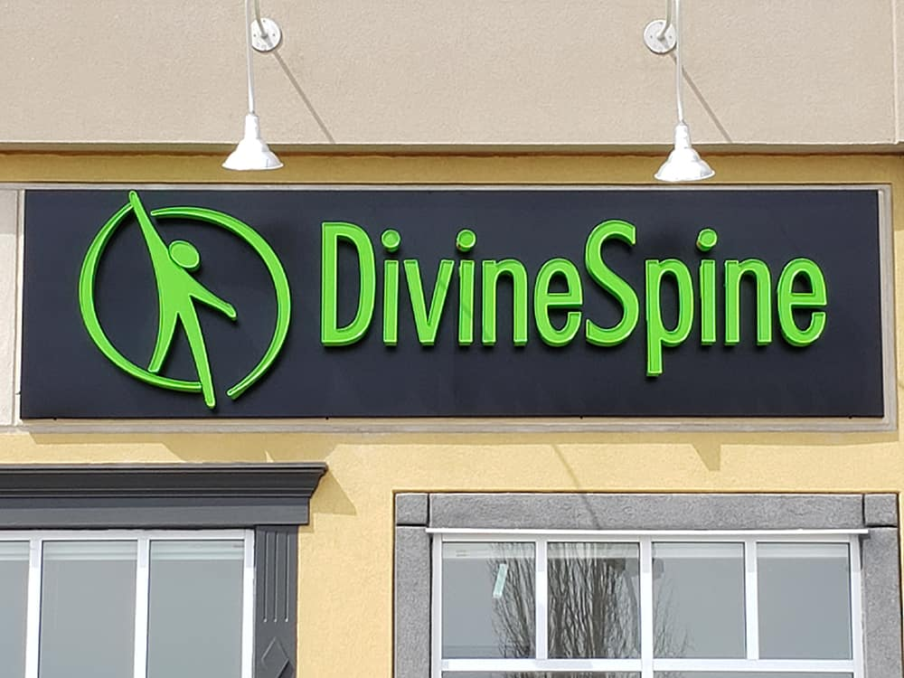Divine Spine - Custom shaped signs
