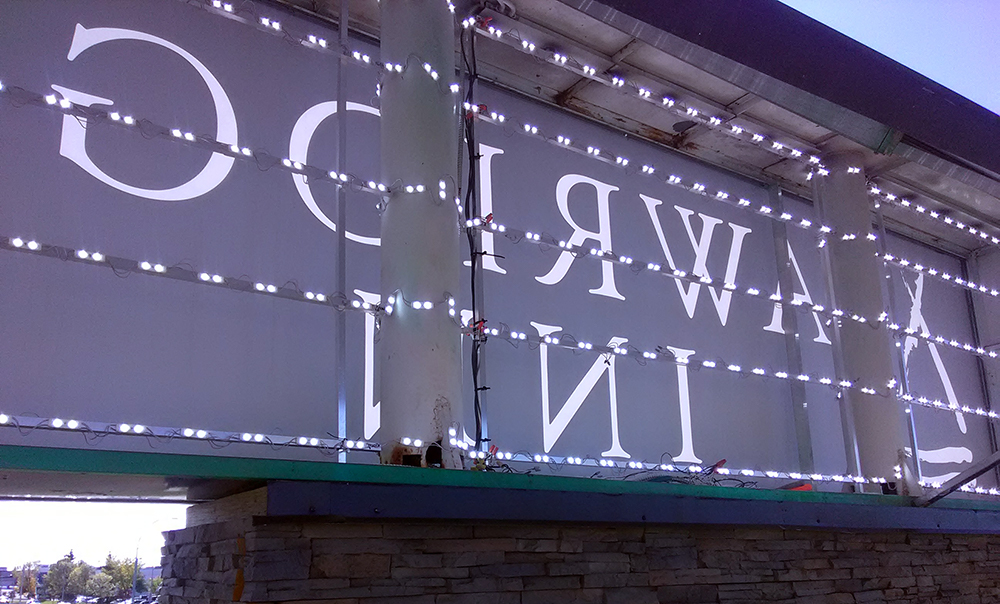 LED Retrofit on existing sign for Sawridge Inn Edmonton South